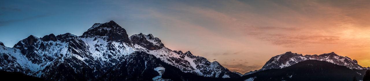 Sunrise behind