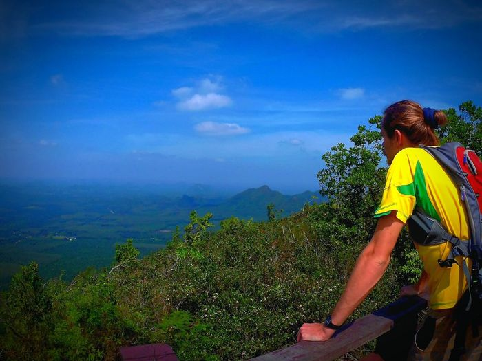 One Person Sky Outdoors Adult Cloud - Sky Day Hiking Trip Thailand View From Above Beautiful Nature Beautiful Husband Landscape Nature First Eyeem Photo