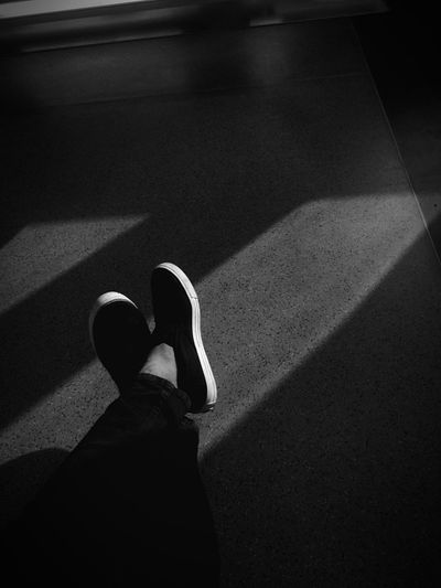 Feet in a train Low Section Shadow Real People Human Leg High Angle View Shoe One Person Sunlight Standing Human Body Part Indoors  Lifestyles Road Day Men People EyeEmNewHere The Street Photographer - 2018 EyeEm Awards The Fashion Photographer - 2018 EyeEm Awards