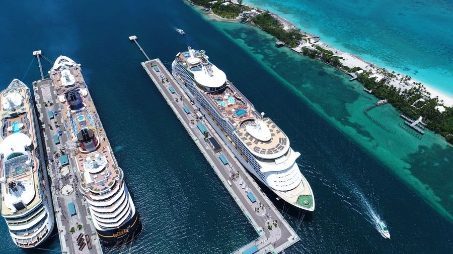 Port of Nassau, Bahamas 🇧🇸 Travel Destinations Nassau, Bahamas Cruiseship Cruise Ship DJI X Eyeem Bahamas Dronephotography EyeEm Selects Water High Angle View Nature Day Swimming Pool No People Aerial View Sea Lifestyles Leisure Activity Luxury Turquoise Colored Transportation