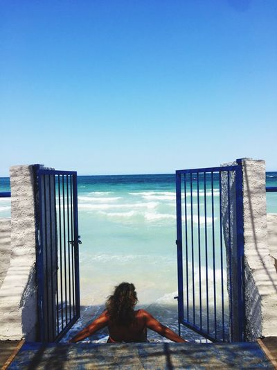 Il mio paradiso Water Sky Sea One Person Blue Nature Horizon Over Water Horizon Women Vacations Sunlight Outdoors Clear Sky