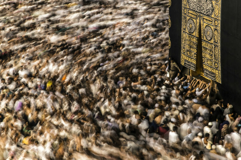Thousands of Muslims during performing the ceremonies of minor pilgrimage in Kaaba - the holy mosque in Mecca . Crowd Islam Large Group Of People Motion Movement People Real People Religion Slow Shutter First Eyeem Photo Welcome Weekly VSCO Streetphotography EyeEmNewHere EyeEm Diversity My Best Photo