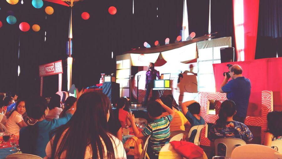 Kids enjoying the magic show Birthday Archer's Birthday