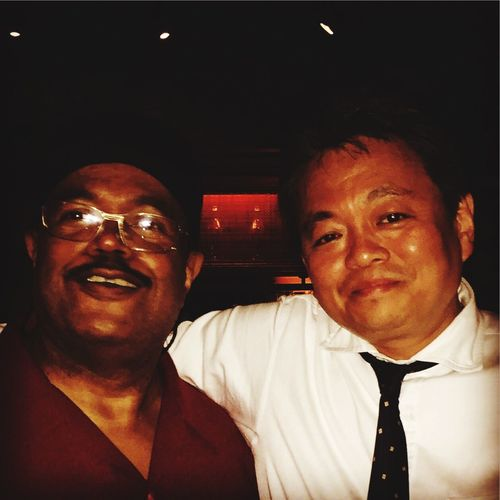 With Dennis Chambers at BlueNote Tokyo