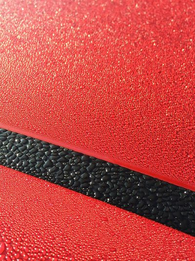 Pattern Pieces Dew Dew Drops Red Black Car Cars Sunshine Early Morning