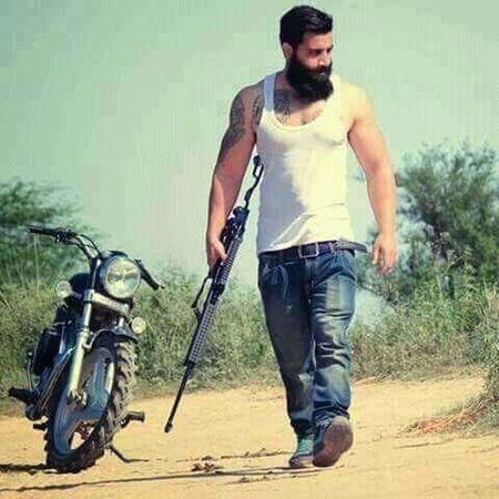 Men walk alone