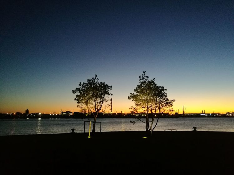 Sunset Silhouette Sky Water No People Holland❤ Rotterdam Harbor Built Structure No Edits No Filters