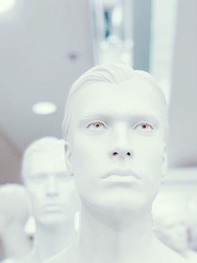 Close-up portrait of sculpture