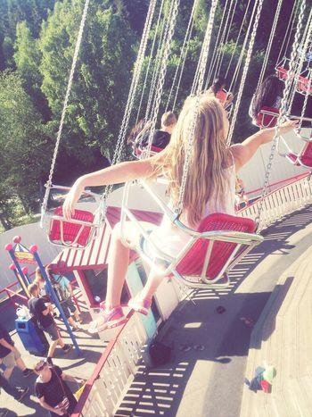 Roller Coaster Tivoli Summer Girl