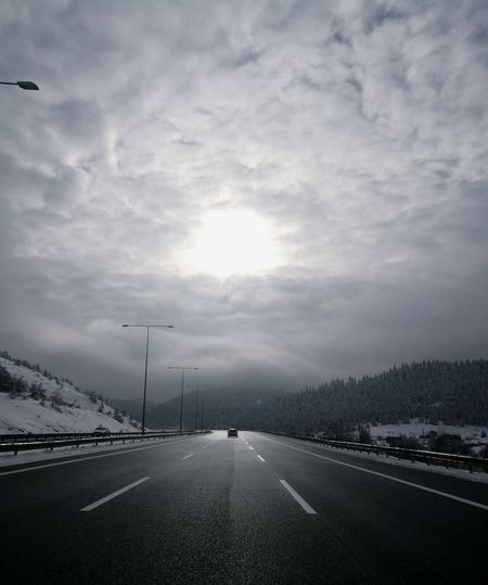Road Winding Road Road Sign City Car Street Storm Cloud Sky Landscape Cloud - Sky