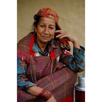 Portrait of a Kinnaur woman, in north Himachal Pradesh. Kinnaur tribe believes in equal distribution of labor among both the sexes. While almost all the men are engaged in sheep and cattle rearing, the women of the group do the household chores and bring up their children. The extremely beautiful women of Kinnaur are expected to integrate the proper values and customs of their culture into the personality of the young children. Religion occupies a very prominent place in the social and cultural life of the Kinnaur tribe. While most of the indigenous population still follow the Totemic religion, they have recently started worshipping idols as an influence of the city culture. Portrait India Documentary Humaninterest photodocumentary photojournalism asia everydayasia velvia fujifilm_xseries photooftheday picoftheday tribe etnies instagood reportage ontheroad asia repostmyfuji