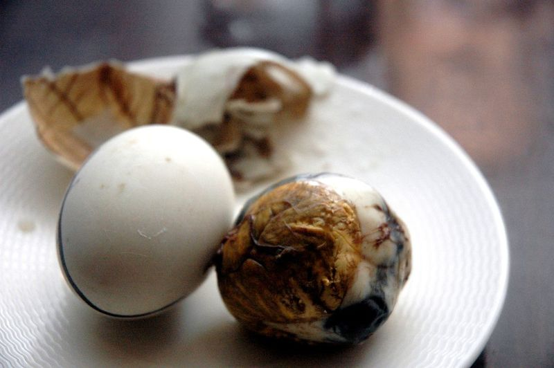 Balut Close-up Day Duck Egg Egg Eyeem Philippines Eyeem Philippines Album Food Food And Drink Freshness Healthy Eating High Angle View Indoors  No People Plate Ready-to-eat