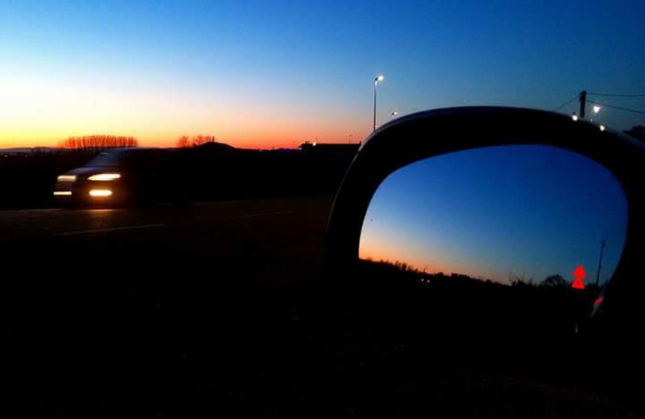 sunset, silhouette, outdoors, no people, illuminated, sky, night, nature