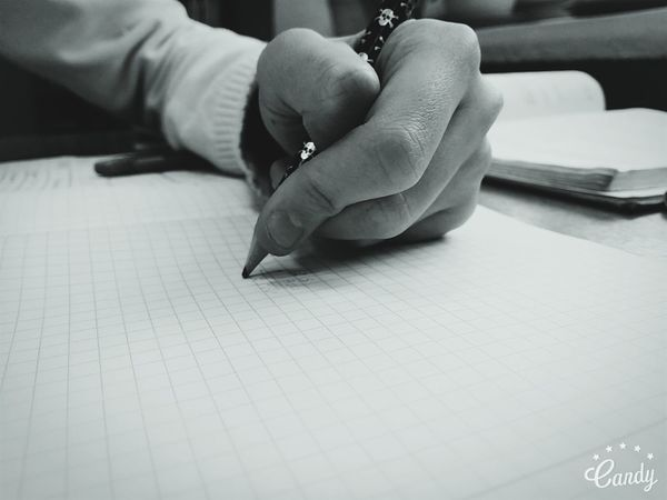 Hand Writing Writings Write Write Something Blackandwhite Black And White Black & White
