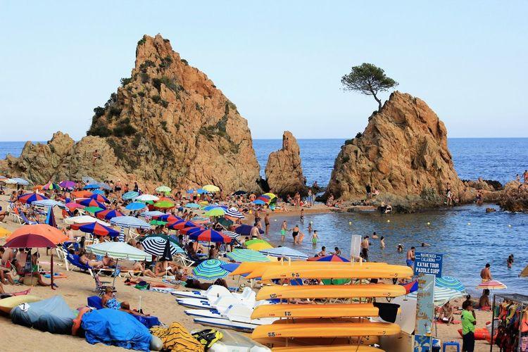 Nice Colors Sea Sunbathing Nice Day Open Edit Seaside Sunny Day Summertime SPAIN Sant Feliu De Guixols Holiday Catalunya Beach Boats Colour Of Life Rocks