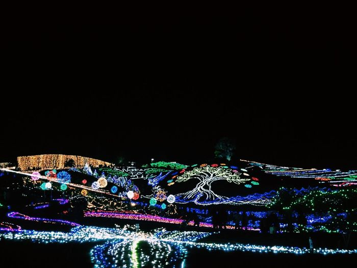 Japan Japan Photography Kagawa Kagawa,Japan Illumination Winter Night Copy Space Illuminated City Building Exterior Multi Colored Architecture Built Structure No People Outdoors Cityscape Sky 日本 香川 満濃 満濃公園 イルミネーション