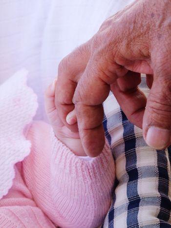 Hands Generations Grandpa Grandparents