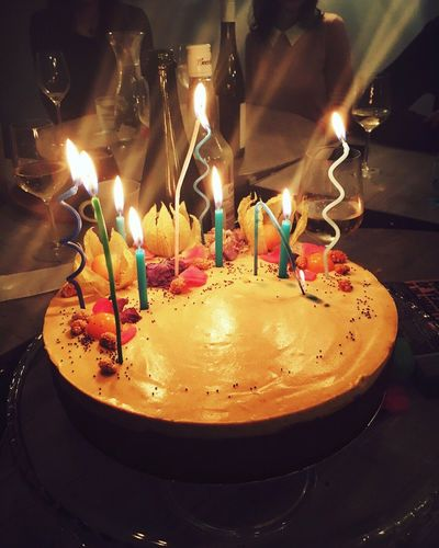 Happy Birthday Birthday Birthday Cake Table Candles Party Vegan Cake Raw Vegan Cake Banoffee Cake