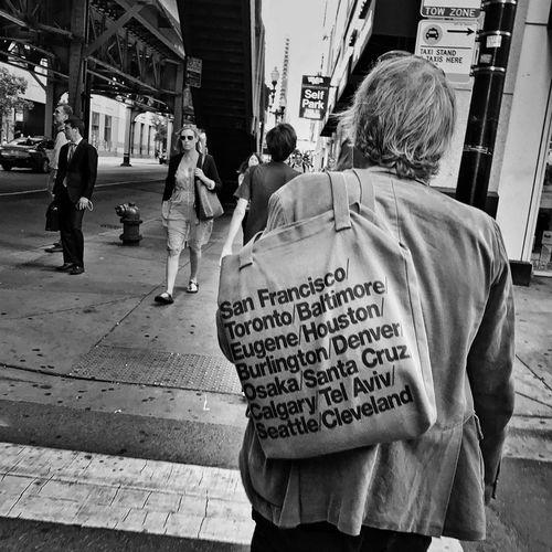 Minus Chicago Streetphotography Blackandwhite Chicago People