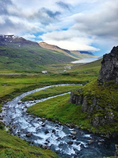 Waterfall Creek Place For The Night Great View Fjord Quality Time Iceland Camper Iceland216