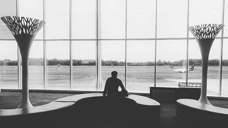 Waiting........ Airport Balikpapan Lgmobileindonesia LG  LGG4 Seethegreat Feelthegreat Scenery Plane Photooftheday Waiting Instatravel Travel