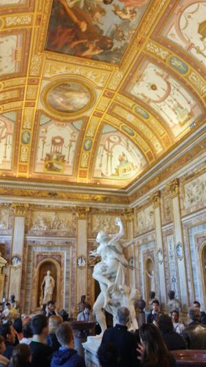 Galleria Borghese, Rome Architecture Group Of People Ceiling Travel Place Of Worship Religion Spirituality Sculpture Borghese Galleria Borghese Rome First Eyeem Photo