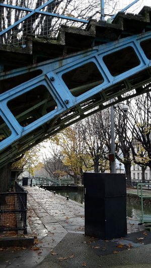 Bridge Under Bridge Metal Trees Autumn Canal Saint-Martin