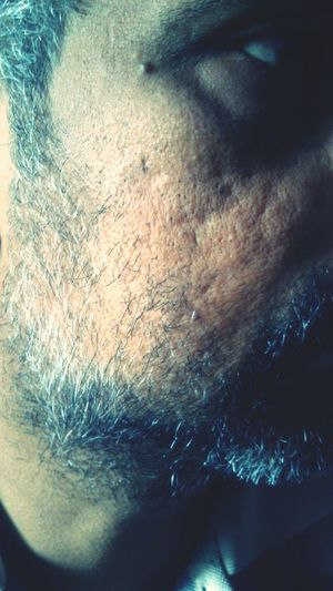 Getting Old Man Beard Old Age Cheeks Closeup Mustache Indian Ethnicity 40-45 Age
