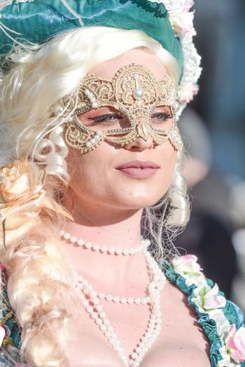 🎷Carnival of Venezia 🤹♀️ 70-200mm D7100 Nikon Mask Carnival Of Venice Eye Mask Headshot Close-up Day One Person Childhood Smiling Pink Color Portrait Girls Real People Outdoors Disguise People