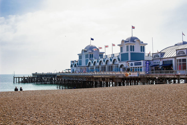Portsmouth Architecture Beach Building Building Exterior Built Structure Cloud - Sky Day Incidental People Land Nature Nautical Vessel Outdoors Pier Sea Sky Southsea Transportation Travel Travel Destinations Water
