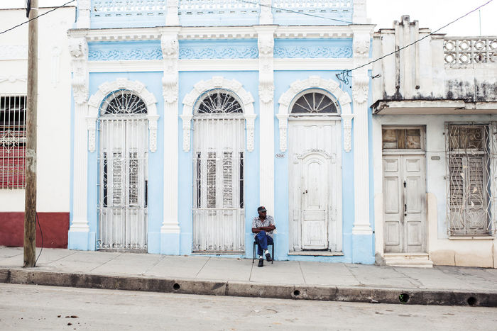 Streets of Cienfuegos Architecture Building Exterior Built Structure Culture Day Men One Man Outdoors People Real People Street Street Photography Streetphotography