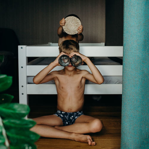 https://www.instagram.com/eglelaurinavice/ Authentic Moments Brother Children Family Home The Week On EyeEm Boys Childhood Day Indoors  Leisure Activity Lifestyles Mix Yourself A Good Time One Person People Playing Real People Shirtless
