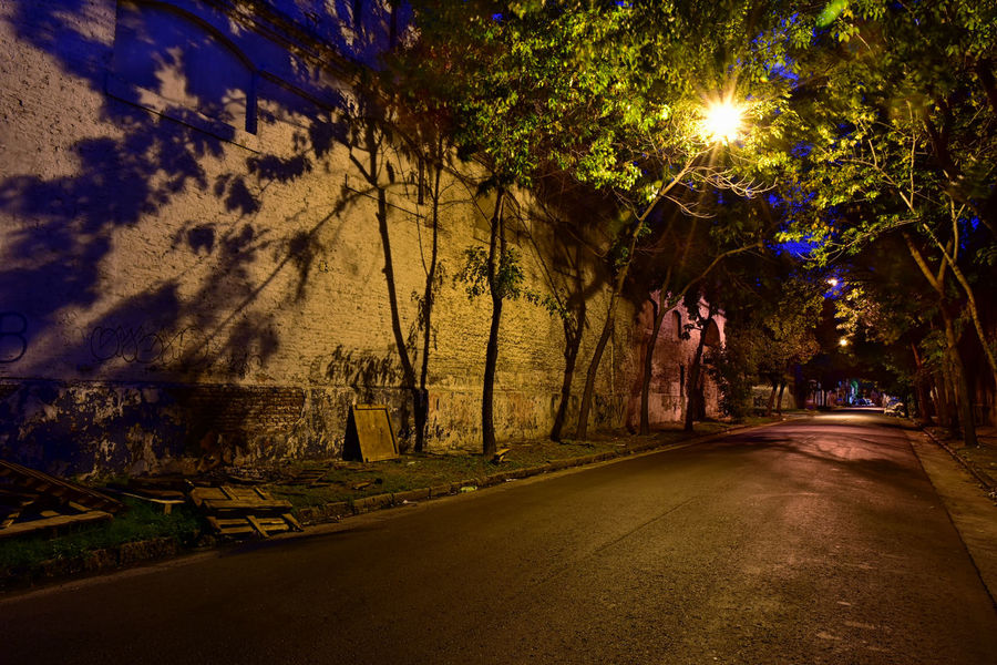 La Boca, Buenos Aires, Argentina. Going off the beaten path. Buenos Aires, Argentina  Cityscape Illuminated Long Exposure Night No People Off The Beaten Path Outdoors Road Shadows & Lights Solitude Street Tree