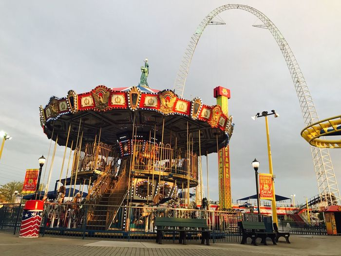 Carousels Amusement Park Amusement Park Ride Carousel Fun Outdoors Day