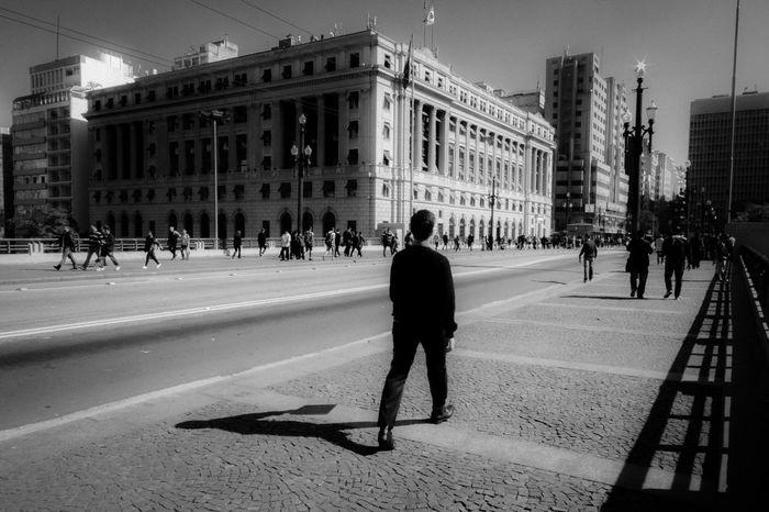 Blackandwhite City Cityscape Cityscapes EyeEm EyeEm Gallery Sampa Sao Paulo - Brazil Street Street Photography Streetphoto_bw São Paulo The Street Photographer - 2017 EyeEm Awards The Week On EyeEm Urban Urban Exploration Urban Landscape Viaduto Do Cha Walking