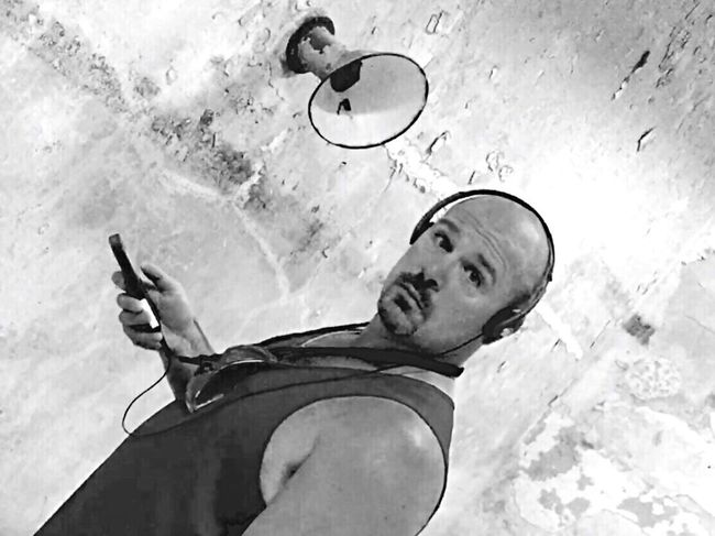 Headphones Listening Looking At Camera Looking For Trouble Looking Blackandwhite Personality  Personal Experiences Personal Perspective Man Goatee Manly  This Is Masculinity