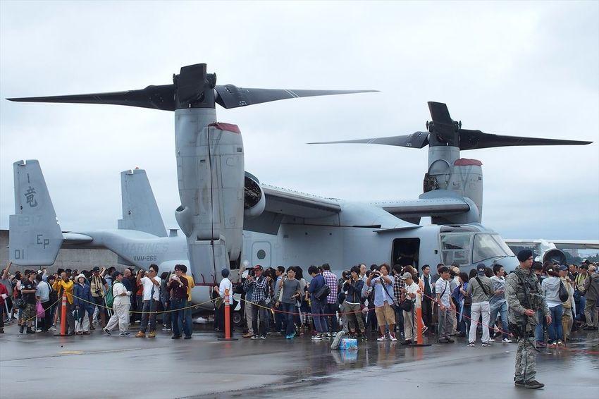 MV-22 Osprey transformed.ヘリモードのオスプレイ( ̄ー ̄) Military Japan Airplane ~カメログまたここで~
