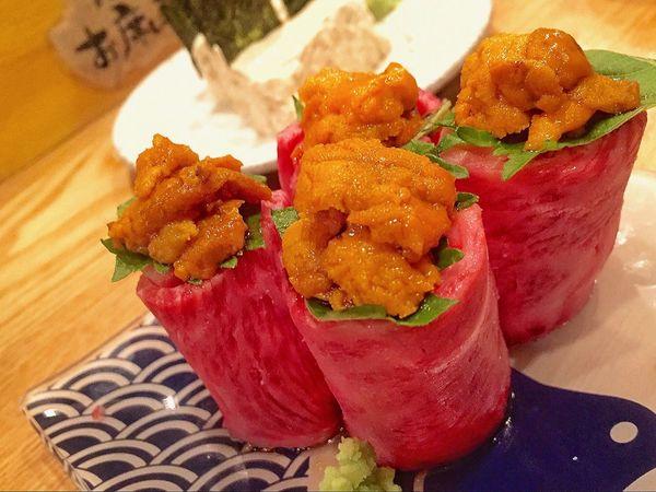 Food And Drink Japan Japanese Food Yummy Yum Dinner Nice Good Foodphotography Favorite Beef Fresh Night 雲丹 和牛 福岡 炉端