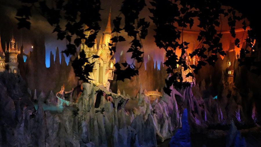 Attraction theme park the Efteling, Kaatsheuvel, the Netherlands. Illuminated Night Group Of People Multi Colored Indoors  Hanging Celebration Large Group Of People Lighting Equipment Pattern Glowing Standing Real People Backgrounds Light - Natural Phenomenon