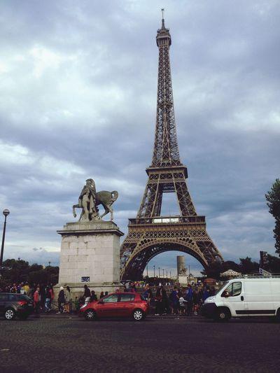 Tour Eiffel Hello World Taking Photos Model