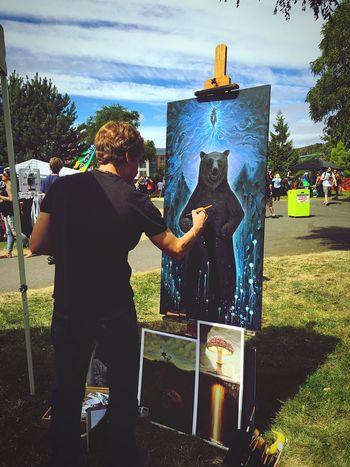 ArtWork Painting Taking Photos Hemp Fest Seattle