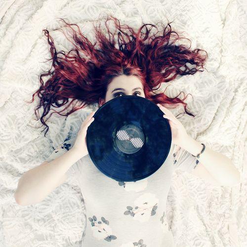 Arctic Monkeys Vynil Record Vintage Grunge Red Hair Girl Enjoying Life