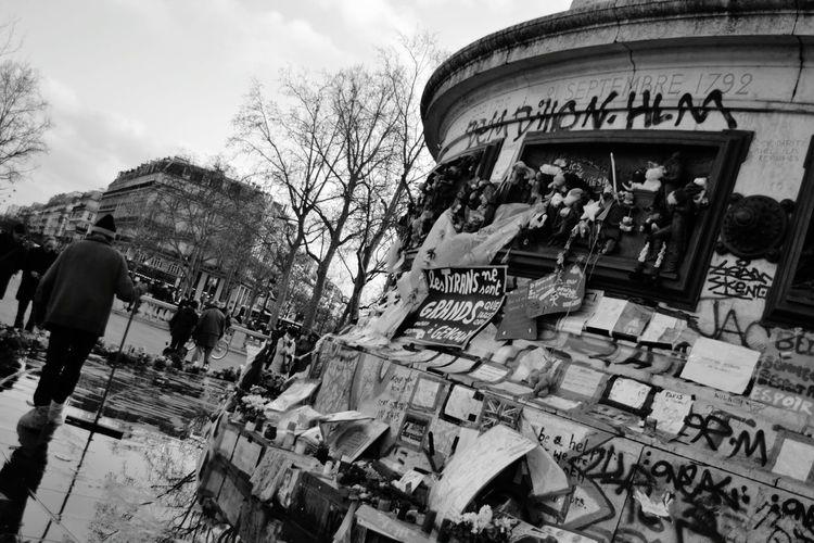 Placedelarepublique Paris 13novembre2015 Blackandwhite Photography Terrorism