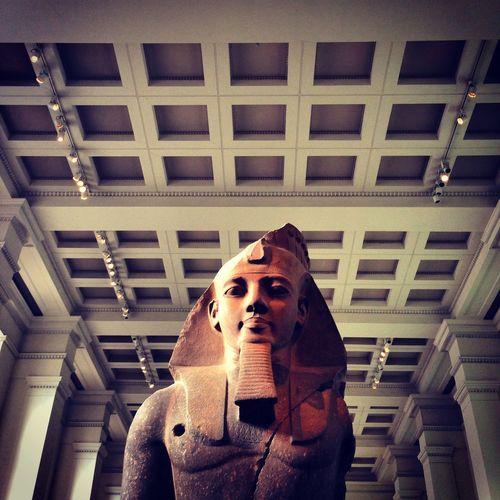 Ancient Ancient Civilization Architecture British Museum Building Built Structure Close-up Columns Egyptian Low Angle View Statue
