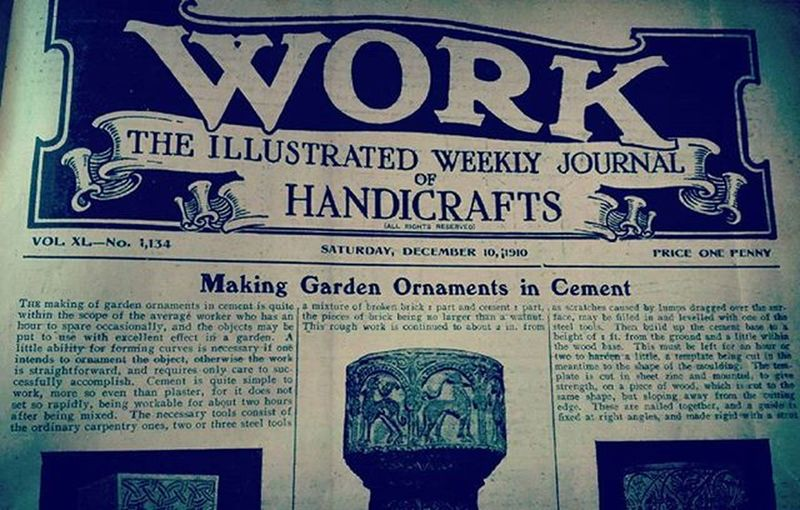 Work 1910 Antiquebook Antique Oldbook Handcrafts Instructions Vintage Pages Tv_typography