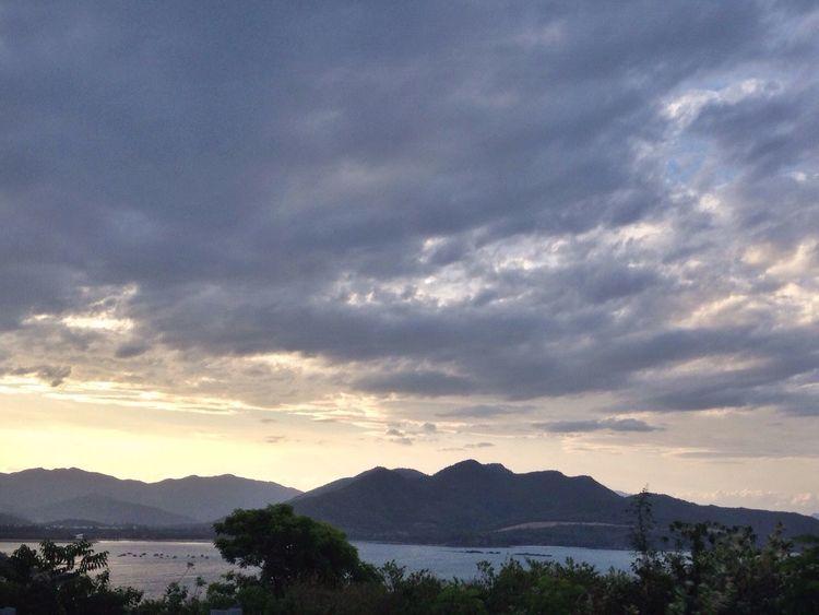 NhaTrang Nha Trang Nha Trang, Vietnam Nhathang Vietnam Vietnammountain Mountains Mountain Mountain View Sky Skyline Cloud Clouds Clouds And Sky Cloud - Sky Sea Sea And Sky Sea View View Tree Trees Sky And Clouds First Eyeem Photo