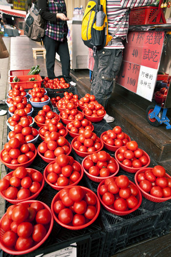 Adult Adults Only Day Farmers Market Food Food And Drink Fresh Freshness Healthy Eating Market Market Stall Outdoors People Red Tomato Tomatoes Food Stories