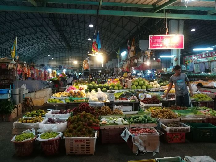 Retail  Market Night Market Stall For Sale Food Variation Choice Vegetable Freshness Food And Drink Large Group Of Objects Illuminated Business Healthy Eating Price Tag Indoors  No People