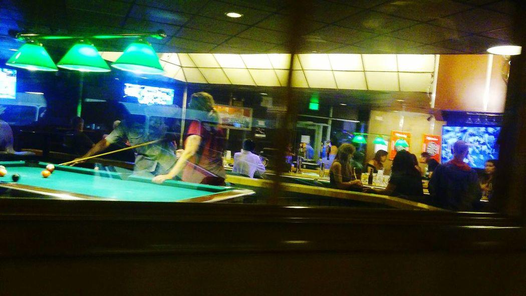 Bar Scene Pool Table Hanging Out Taking Photos Check This Out Enjoying Life Appreciate The Little Things In Life Rhode Island Enjoying Life EyeEm Masterclass EyeEm Best Shots Group Of People EyeEm Gallery Rhode Island Photography⚓ Capture The Moment People Watching Through The Window Through My Eyes