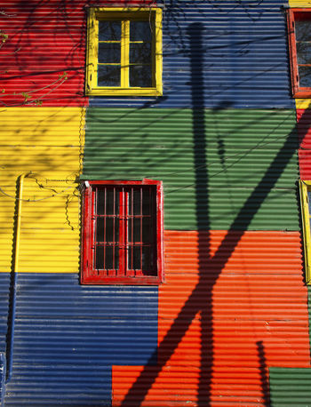 Buenos Aires Buenos Aires Photography Coloured Windows Boca Boca District Coloured Wall Multi Colored Multicoloured Red Yellow